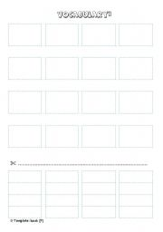English worksheet: CUT AND PASTE TEMPLATE blue