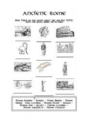 Ancient Rome - ESL worksheet by evacufu
