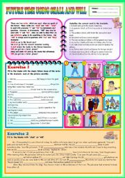 English worksheets: Future Tense worksheets, page 6