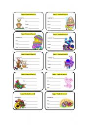English Worksheet: Easter awards