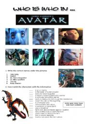 English Worksheet: Avatar The Movie