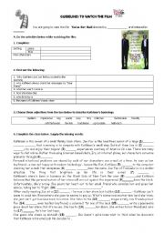 English Worksheets: Guidelines to watch