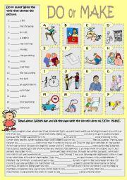 English Worksheets: Do or make