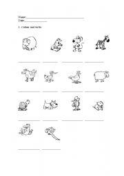 English Worksheets: Animal ws