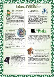 English Worksheet: IRISH FAIRIES