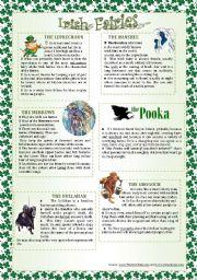 English Worksheets: IRISH FAIRIES