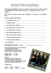 English Worksheet: If Everyone Cared - Song with the Second Conditional