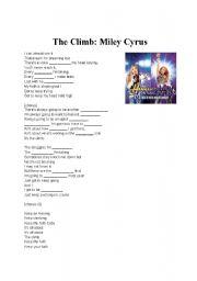 English Worksheets: The Climb: Miley Cyrus