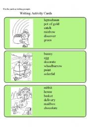 English Worksheets: Writing Activity Cards