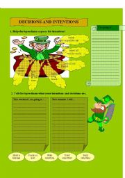 English Worksheets: Decisions and intentions