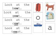 English Worksheets: oa sentence match