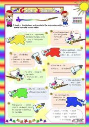 Basic Colour Idioms for Elementary/Lower Intermediate Students  (1)
