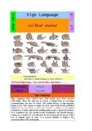 English Worksheets: Sign Language