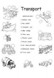 means of transportation esl worksheet by oprisorbrenda. Black Bedroom Furniture Sets. Home Design Ideas