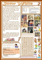 English Worksheet: Snow White