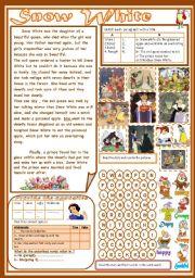 English Worksheet: Snow White