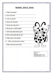 English Worksheets: Answer about Ross
