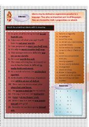 English Worksheets: idioms1