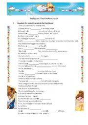English Worksheet: Beauty and the Beast - The prologue - The Encahntress