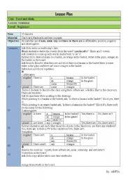 English Worksheets: Lesson plan