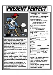 English Worksheets: PRESENT PERFECT WITH NEVER, EVER, ALREADY AND YET