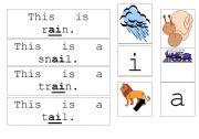 English Worksheets: ai diagraph worksheet