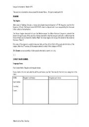 English Worksheet: CLIL activity