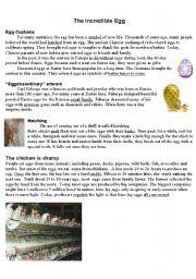 English Worksheets: Eggs
