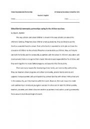 English Worksheet: reading comprehension about citizenship