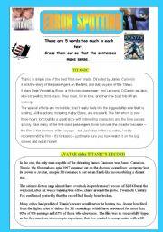 English Worksheets: Error spotting exercise