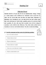 English Worksheets: A fisher man