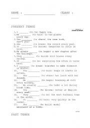 English teaching worksheets: Simple past irregular verbs