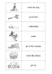 English Worksheets: Everyday activities DOMINO PART 3