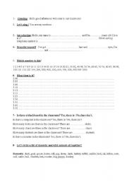 English Worksheets: open classes for kids