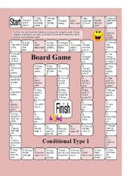 English Worksheet: Board Game: Conditional Type 1