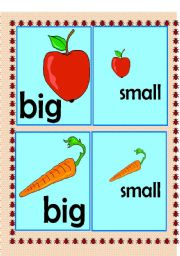 english worksheets big and small flashcard. Black Bedroom Furniture Sets. Home Design Ideas
