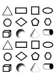 english worksheets shapes memory game. Black Bedroom Furniture Sets. Home Design Ideas