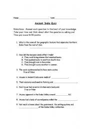 English teaching worksheets: India