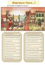 English Worksheet: There was/There were