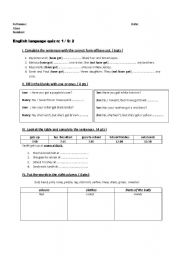 English Worksheet: quiz: have got, one & ones, clothes vocabulary