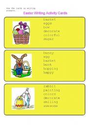 English Worksheet: Easter Writing Activity Cards