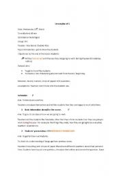 English Worksheets: first and second day of highschool
