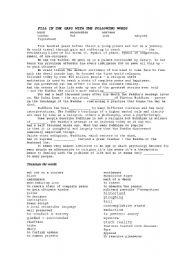 English worksheets: Life of Buddha movie worksheet
