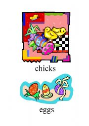 English Worksheet: Easter set of flashcards