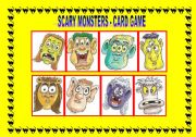 HAVE GOT: SCARY MONSTERS - FACE PARTS - CARD GAME