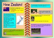 English Worksheet: New Zealand - some information
