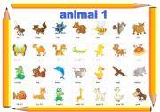 English Worksheets: animal 1