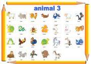 English Worksheets: animal 3
