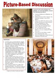 English Worksheets: Picture-Based Discussion (32): People and Society: Poverty and Wealth