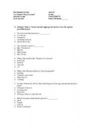 English teaching worksheets: Matilda